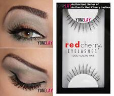 1 Pair GENUINE RED CHERRY #601 Dolce False Eyelashes Human Hair Eye Lashes
