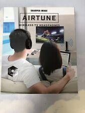 NEW Sharper Image AIRTUNE Wireless TV Headphones RF technology, FM Radio NIB
