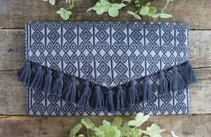 Elegant Evening Bag / Clutch Hand Woven Shades of Gray Larrainzar Mayan Chiapas