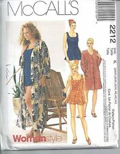 McCall's Sewing Pattern # 2212 Women's Swimsuit and Cover-Up 28W-30W-32W