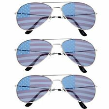American Flag Pilot Sunglasses 3 Pack Lot Bulk Wholesale