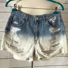 NEW TOPSHOP MOTO MOM Ripped Denim Shorts Size US 6 EUR 38 High Waisted