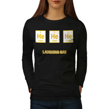 Wellcoda Nerd He He Chemistry Womens Long Sleeve T-shirt, Gas Joke Casual Design