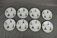 "Gorham Christmas Splendor Salad Plate Tree Holiday Set of 8 8 1/4"""