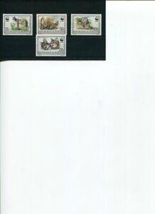 1992 WWF BURUNDI Serval 4v set MNH POST FREE