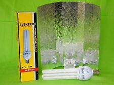 Elektrox Sparset 85 W Flower Blüte Energiesparlampe + Reflektor ESL Set 2700K 4U