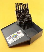 Drill Hog® 26 Pc LETTER Drill Bits Set A-Z HI-MOLYBDENUM M7 Lifetime Warranty