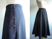 NEXT Vintage 80s Blue Wool Mix Midi Skirt Fits a Size 10 or small 12