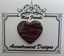 Accoutrement Designs Stitch Jargon Heart Needle Minder Magnet Mag Friends