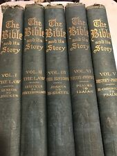 THE BIBLE AND ITS STORY Taught by Picture Lessons  Vol 1-5  1910