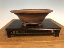 "Unglazed Handmade Shohin Size Tokoname Bonsai Tree Pot Made By Fushu. 5"""