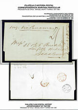 CHILE (BPO) TO UK STAMPLESS FOLDED LETTER 1860 VALPARAISO - LINFITTS