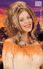 Ladies Long Blonde Brown Wig Natural Look Beehive Fancy Dress