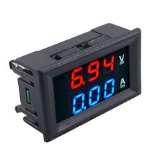 New DC 100V 10A Voltmeter Ammeter Blue + Red LED Amp Dual Digital Volt Meter Gau