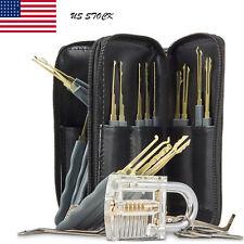 24pcs Key Extractor Locks Kit Training Opening Practice Tool Pick Needles Set US