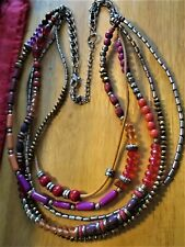 Variety Of Beads Necklace� �Jewelry Garage Sale!�Beautiful 5-Strands Of