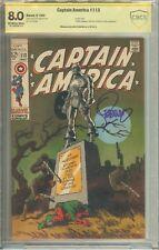 Captain America #113 CBCS CGC Signature Witnessed Jim Steranko