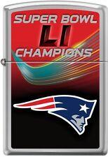 Zippo NFL Super Bowl 51 New England Patriots High Polish Chrome Lighter 29518
