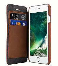 "Melkco Premium Leather Case for Apple iPhone 7 (4.7"") - Face Book BROWN H122"