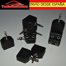 ADAPTADOR DUPLICADOR LADRON AUDIO DE MINIJACK MINI JACK 3.5 MM a doble normal