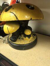 Mushroom Table Lamp MCM Heavy Yellow Art Deco