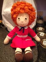 """Vintage 1982 LITTLE ORPHAN ANNIE DOLL Rag Doll Applause 15"""" Rare Collectible"""