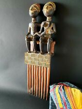 Old Giant Carved Wooden Comb Man, Woman, & Child …beautiful Collection & display