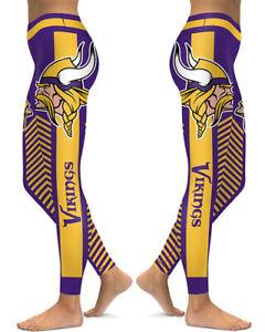 Minnesota Vikings Leggings Small-XXL (0-14) Football Fan Gift Game Vikes Q590