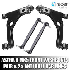 VAUXHALL ASTRA H MK5 WISHBONES ARMS X2 INC DROP LINKS Inc OPEL ARM PAIR FRONT