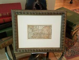 Framed Original 1887 Antique Map of New York