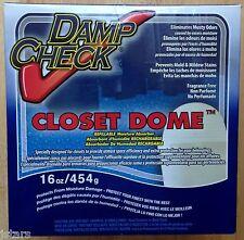 (1) DAMP CHECK CLOSET DOME REFILLABLE MOISTURE ABSORBER DEHUMIDIFIER, 16 OZ, NEW