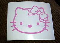 Set Of 4 Hello Kitty Car Sticker Wall Window iPad Sticker  #26 // LapTop