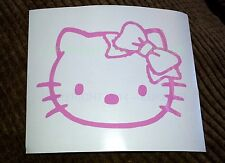 HELLO KITTY Head Face Bow Vinyl decal sticker car-truck-bumper-window-ipod-ipad