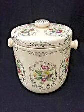 Vintage Dresdena Ware Biscuit Cookie Jar Japan Floral
