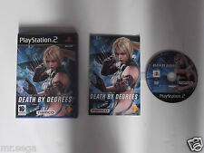 Death BY DEGREES para PLAYSTATION 2 tienen muy raro y difícil de encontrar""