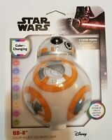 Starwars BB-8 Color Changing Led Night Light! Let It Cycle Or Select Your Color