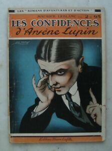 LES CONFIDENCES D'ARSENE LUPIN - 1921 MAURICE LEBLANC
