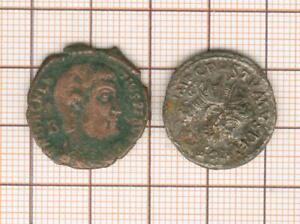 Billon And Copper, 2 Coins, Magnentius And Postumus