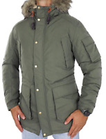 Jack & Jones Men's Jorlatte Hooded Parka Jacket Green Size UK XL *REF171