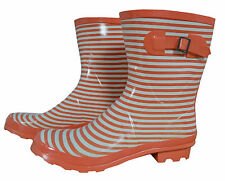 Women's Striped Rubber Boots