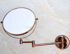 Rose Gold Copper Folding Arm Wall Mount Magnifying Cosmetic Bathroom Mirror