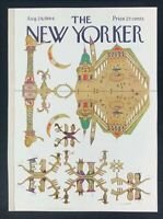 COVER ONLY ~ The New Yorker Magazine, August 29, 1964 ~ Saul Steinberg