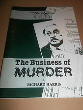 "THEATRE ROYAL BATH "" THE BUSINESS OF MURDER "" THEATRE PROGRAMME 1988"