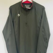 Champion Cold Gear Olive Green Quarter Zip Top Large