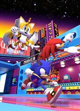 SONIC THE HEDGEHOG POSTER WALL ART - CHOOSE SIZE - FRAMED OPTION e