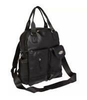BooPeeDo Backpack Diaper Bag with RFID Blocking Pocket and Changing Pad, Black