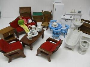 Vintage Doll House Furniture Lot