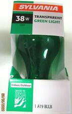 GREEN PARTY LIGHT BULB--SOLD IN LOT OF THREE...INDOOR-OUTDOOR