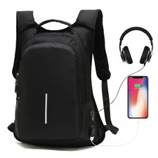 Anti-Theft Smart Travel Backpack with USB Charging Port & Headphone Hole,Laptop