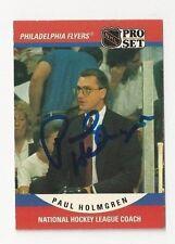 90/91 Pro Set Autographed Hockey Card Paul Holmgren Philadelphia Flyers